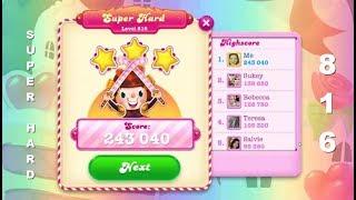 Candy Crush Soda Saga Level 816   |   SUPER HARD LEVEL   |    3-Star ⭐⭐⭐