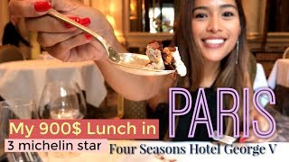 Paris: Fabulous 900$ Lunch!! World-Class 3 Michelin Star, Le Cinq at FS George V Hotel