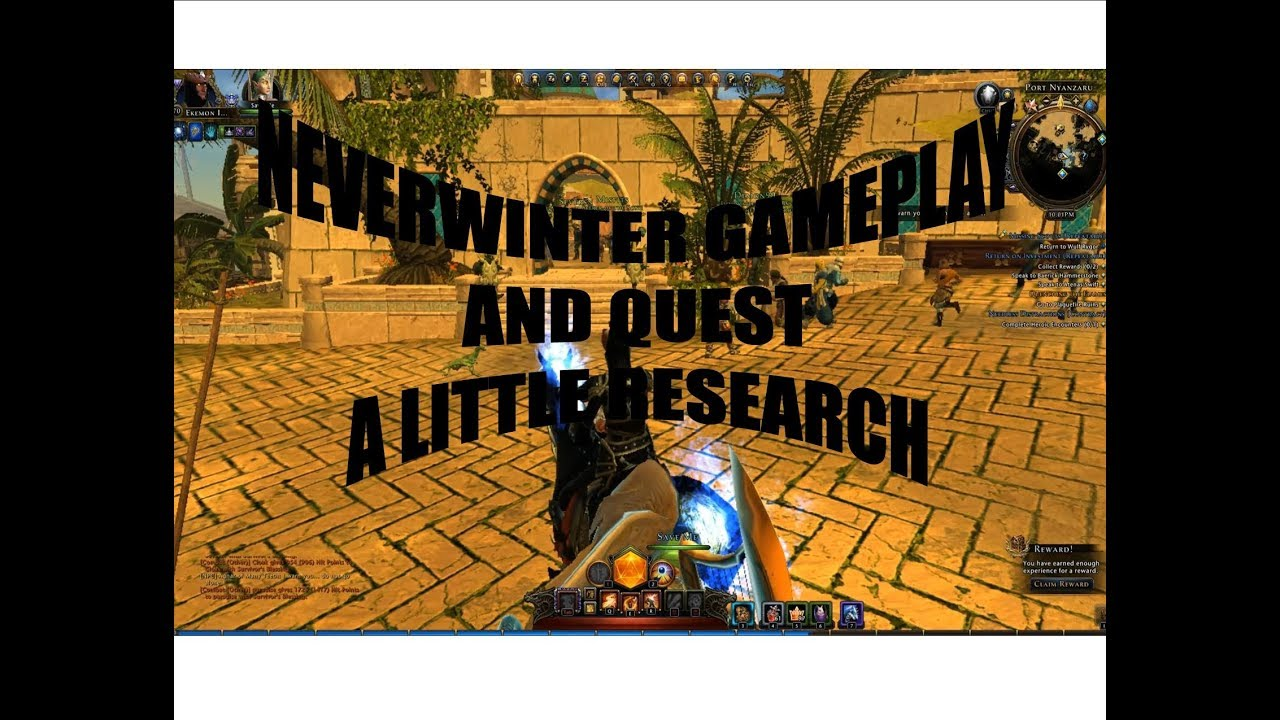 Neverwinter gameplay Chult and quest A Little Research