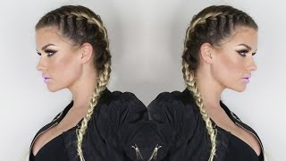 vuclip HOW TO: FRENCH BRAIDS W/ EXTENSIONS