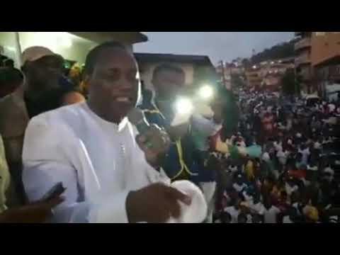 SIERRA LEONE PRESIDENTIAL CANDIDATE DR. KANDEH KOLLEH YUMKELLA  SPEECH IN FREETOWN