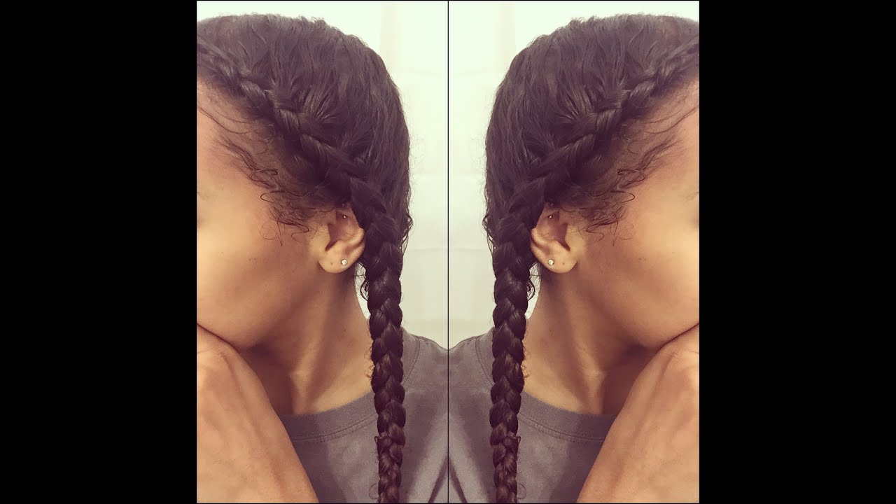 How To Dutch Braids In Natural 3C Hair YouTube