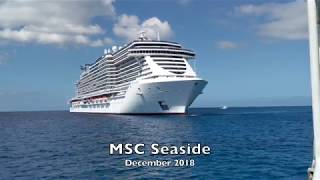 Video clips while onboard the MSC Seaside December 1-8, 2018 cruise...