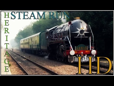 IRFCA- INDIAN RAILWAYS- Historical n Powerful STEAM LOCOMOTIVE hauls Heritage Express-Winter Special