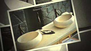 Egyptian Oval Marble Bathroom Vessel Basin  50x38 Cocoon Sunny Designed By Livingroc Uk