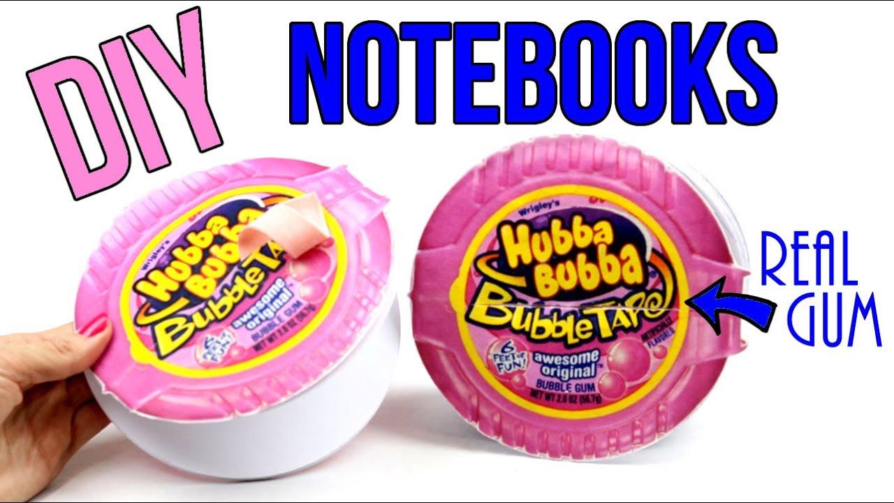 Cool Diys Part - 49: DIY Crafts: How To Make A Bubblegum Notebook-DIYs Hubba Bubba Notepad U0026  Real Gum-Cool DIY Project - YouTube