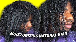 HOW TO ACTUALLY MOISTURIZE NATURAL HAIR (dry, brittle, and rough)