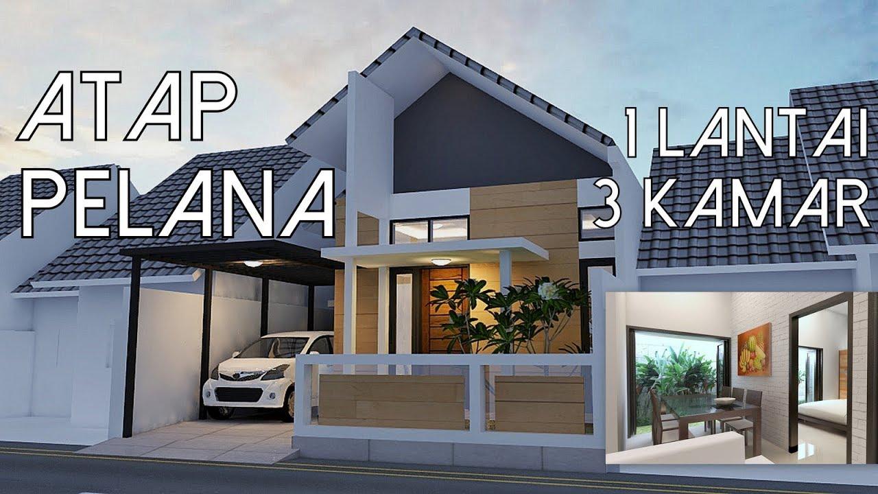 Rumah Atap Pelana satu lantai 3 Kamar  8x18m2  YouTube
