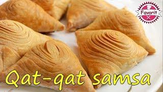 🔵 Samsa börəyinin hazırlanması   Qat-qat samsa börək   Özbek börek yapımı
