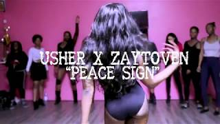 "USHER X ZAYTOVEN - ""PEACE SIGN"" - Choreography by Jay Marié   MY VERY FIRST HEEL CLASS"