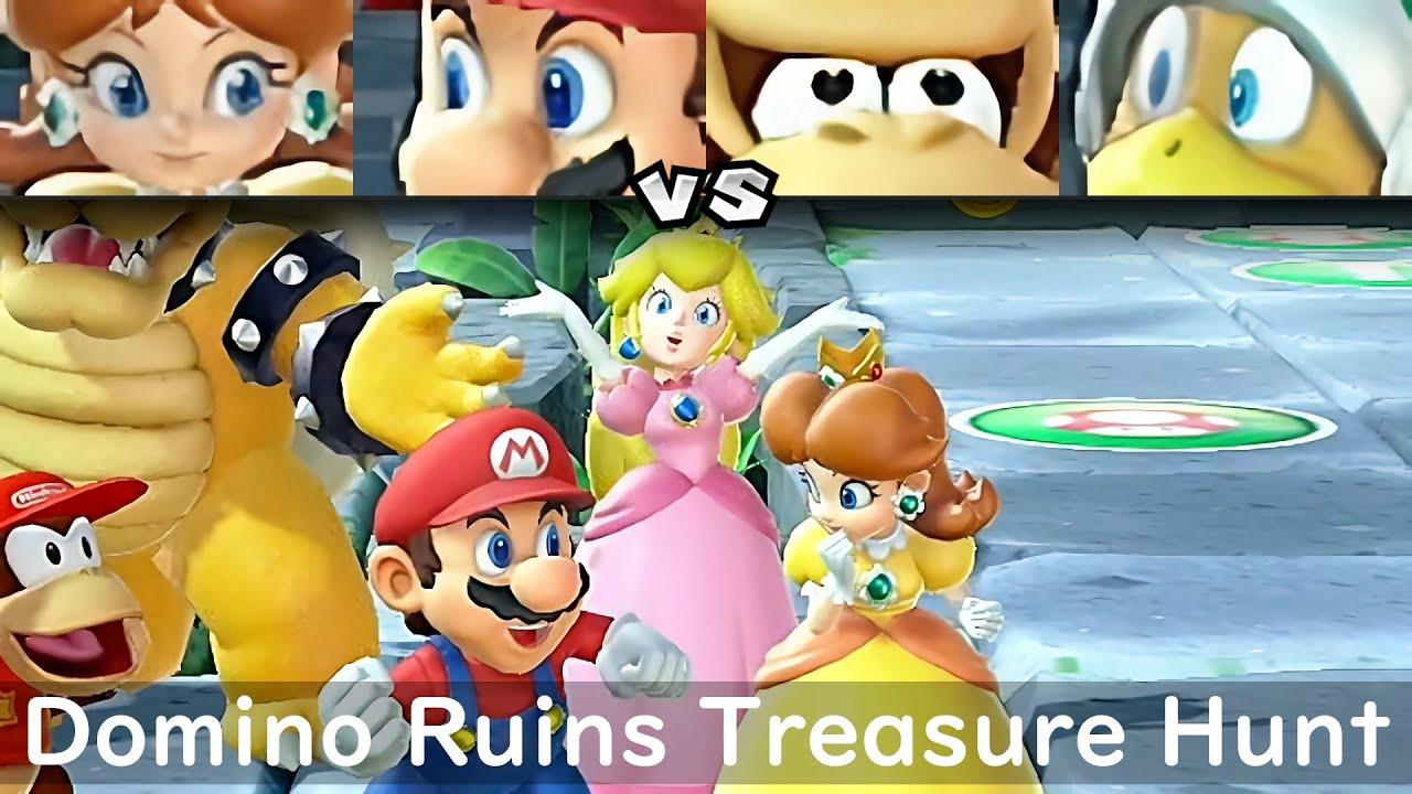 Super Mario Party Daisy and Mario vs DK and Hammer Bro #77