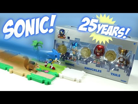Sonic the Hedgehog 25th Anniversary Toys from TOMY and a Race!