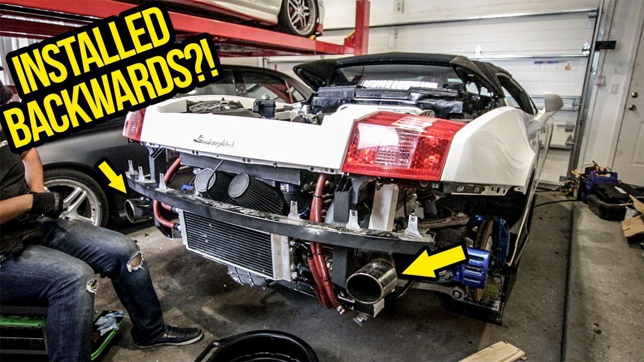 Fixing My Cheap Lamborghini\'s $50,000 Turbo Kit (With Zip Ties And ...