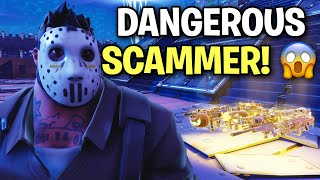 I just met a VERY Dangerous Scammer! 😱😳 (Scammer Get Scammed) Fortnite Save The World
