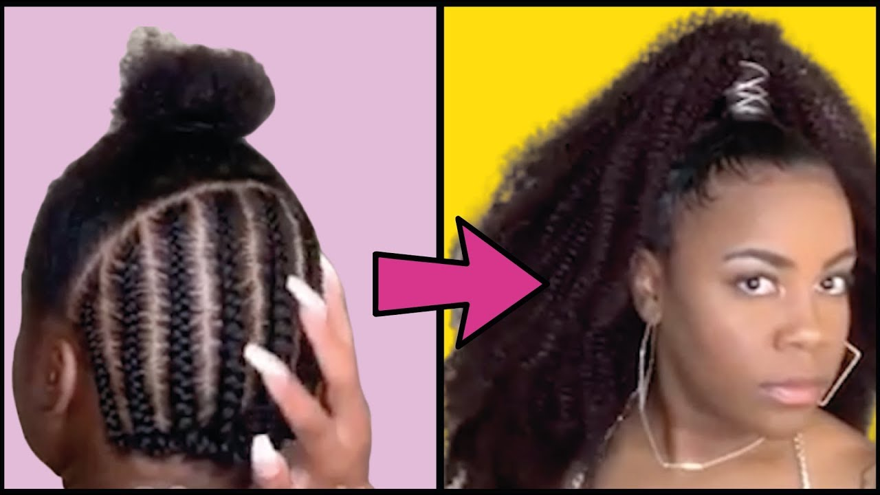Half Up Half Down Crochet Relaxer Pixie Mega Bun And Other Fab Hairstyles For Black Women