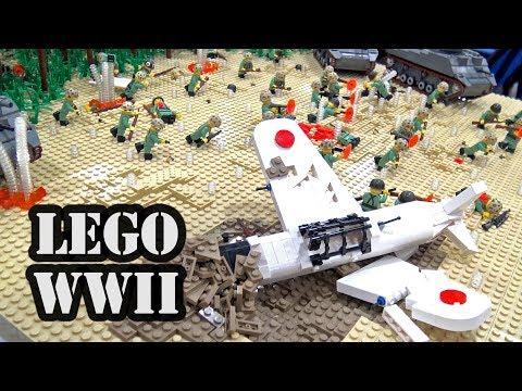 LEGO WWII Battle Of Peleliu Airfield   BrickFair Virginia 2018