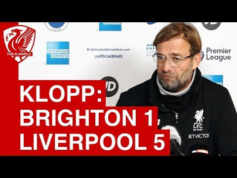 Brighton 1-5 Liverpool | Jurgen Klopp Post Match Press Conference