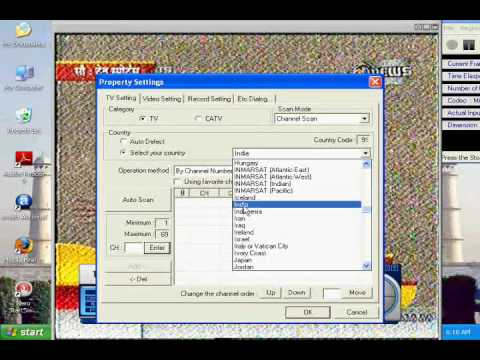 TV Tuner Card location preference setting - YouTube