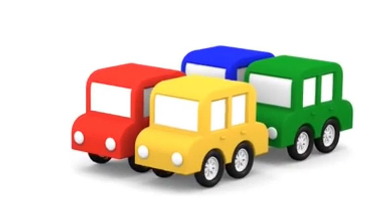 Lehrreicher Zeichentrickfilm Zahlen Lernen Mit Den 4 Kleinen Autos
