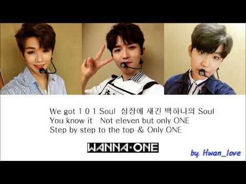 Wanna One (워너원) - To Be One  파트별 가사