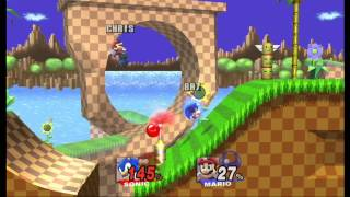 Super Smash Bros. Brawl: Green Hill Zone (Sonic vs Mario) [1080 HD]