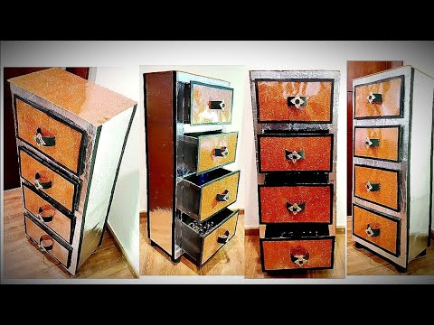 BEST OUT OF WASTE || CARDBOARD CRAFTS|| CARDBOARD FURNITURE|| DIY ORGANIZER: