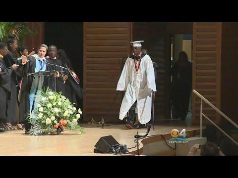 Teen Paralyzed In Shooting Surprises Classmates & Walks Graduation