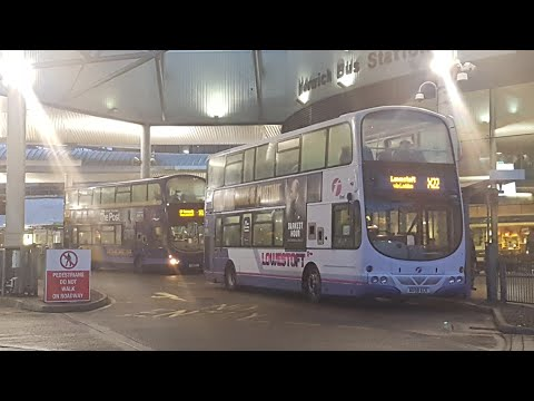 Buses in Norwich Bus Station Saturday 27th January 2018