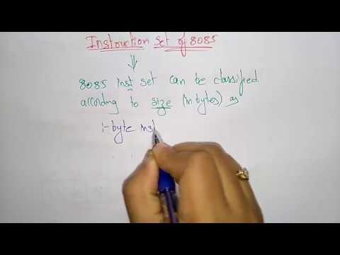 8085 Instruction Set Introduction