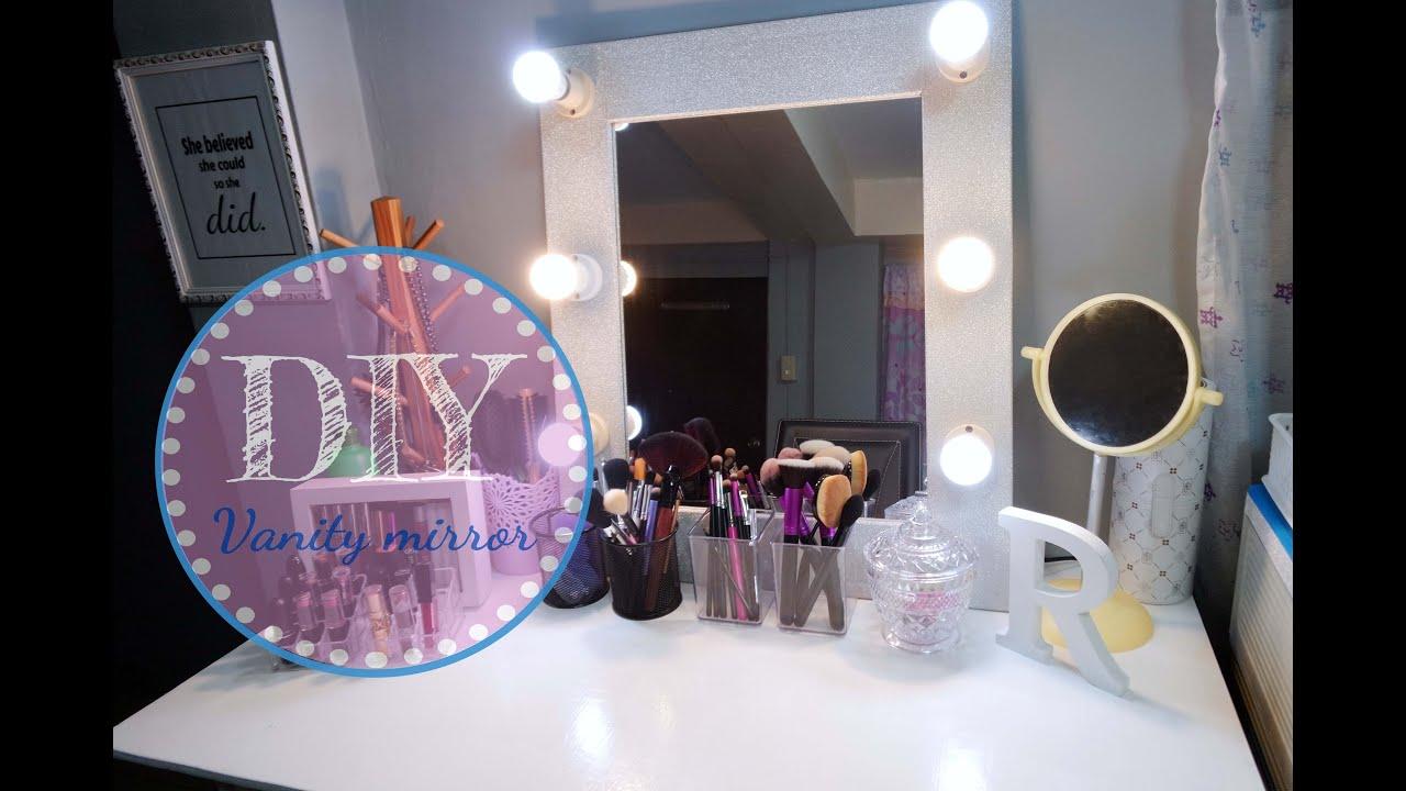 makeup mirror diy vanity