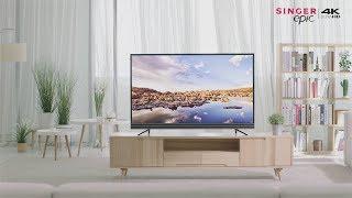 "Singer Epic 43"", 49"" 4K HDR Google Android AI Smart TV"