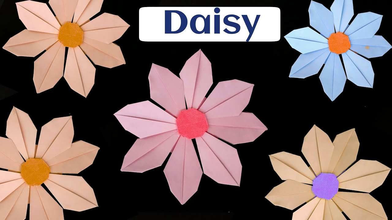 How To Make A Paper Daisy Flower Modular Origami Youtube
