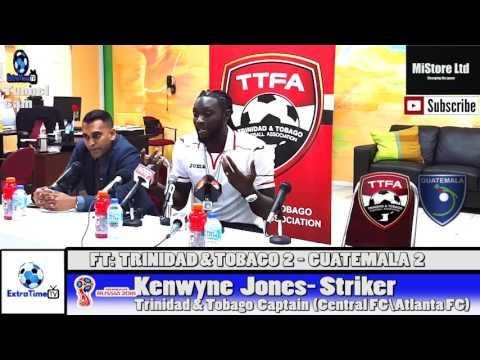Trinidad & Tobago vs Guatemala - Kenwyne Jones full post match conference