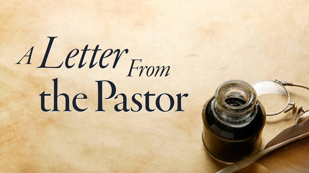 Letter from Pastor Kang - 09.28.2020