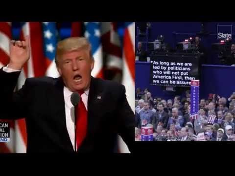 How Much Did Trump Go Off Script in His RNC Speech?
