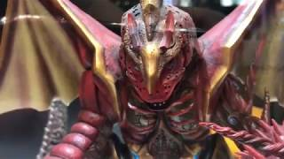 Five King from Ultraman Ginga S was on display at the Plex booth at...