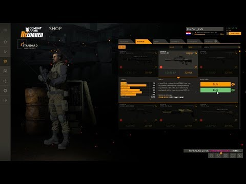 Conferindo o ''Novo'' Combat Arms Reloaded a Loja Inteira Permanente por GP !