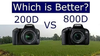 Canon 200d vs 800d || Which one is best DSLR ? features & specifications of 200d and 800d
