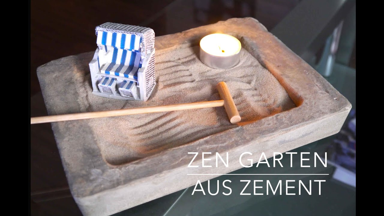 zen garten aus zement anleitung german youtube. Black Bedroom Furniture Sets. Home Design Ideas