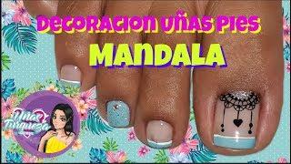 Decoracion de Uñas Pies Facil/Uñas de pies/Diseños de uñas de los  pies