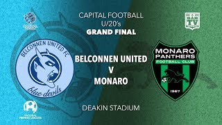2019 NPL Capital Men's Grand Final - U20s - Belconnen United FC v Monaro Panthers FC