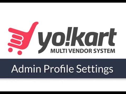 Admin Profile Settings for Yo!Kart Version 6: Best Marketplace Platform