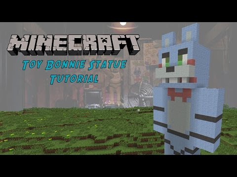 Minecraft Tutorial: Toy Bonnie (Five Nights At Freddys 2) Statue