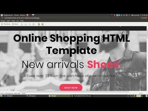 Верстка для начинающих. Shopping HTML template. Bootstrap 4. Part 1