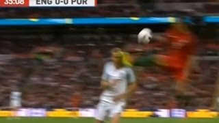 Portugal's Bruno Alves sent off for flying karate kick to Harry Kane's face