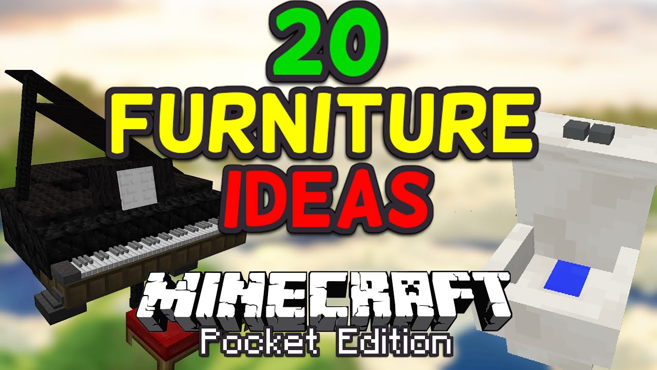 20 Cool Furniture Ideas for Minecraft PE Pocket Edition YouTube