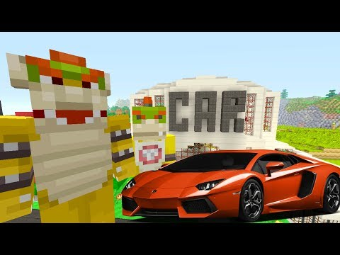 Minecraft Switch - Nintendo Fun House - Bowser Jr BUYS A LAMBORGINI! [99]