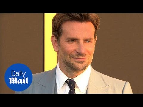 Bradley Cooper dapper in baby blue at 'A Star Is Born' premiere