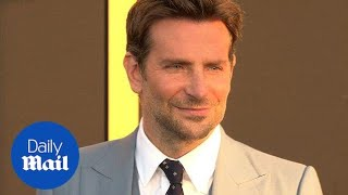 Bradley Cooper dapper in baby blue at 'A Star Is Born' premiere