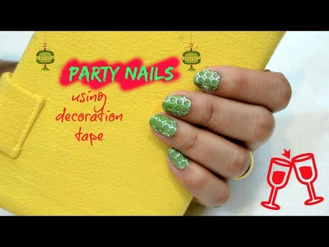 PARTY NAILS USING DECORATION TAPE